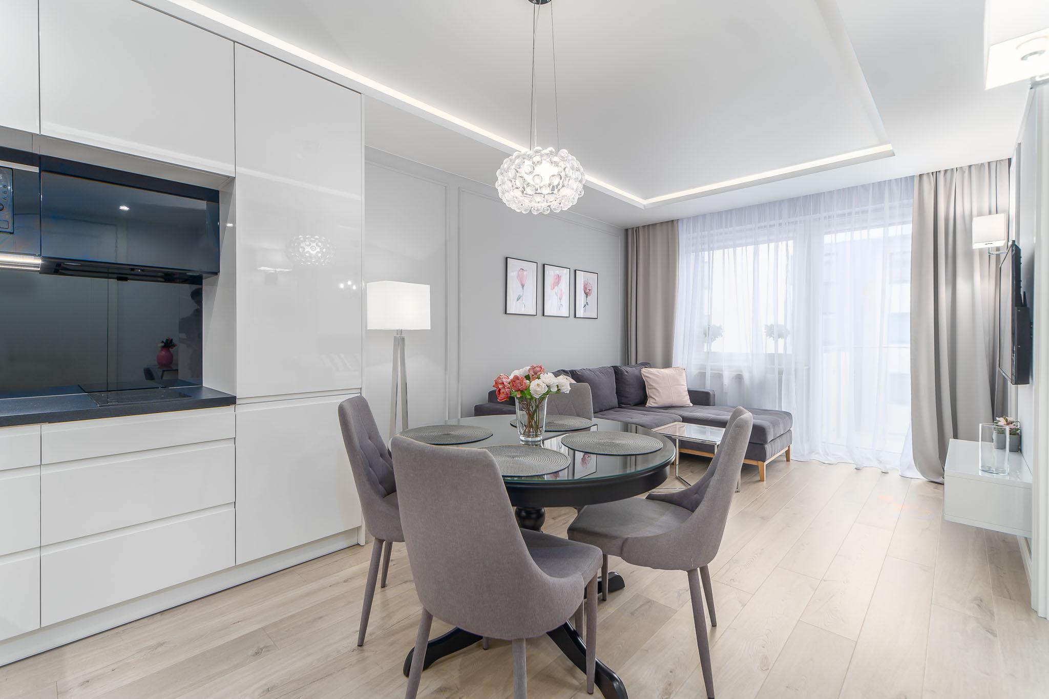 Projekt wnętrz mieszkania w Kołobrzegu