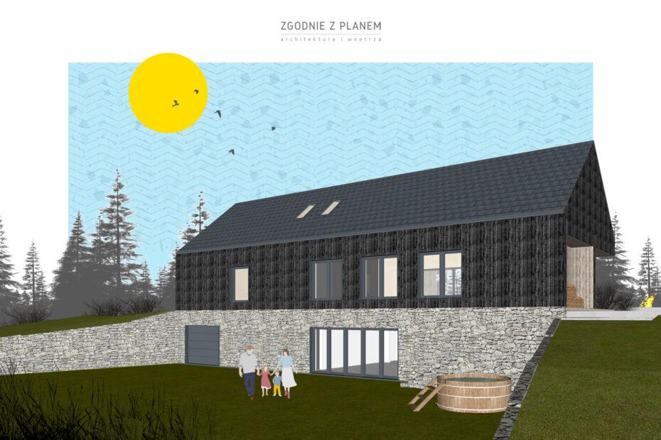 Dom nad jeziorem Drawskim A02 3