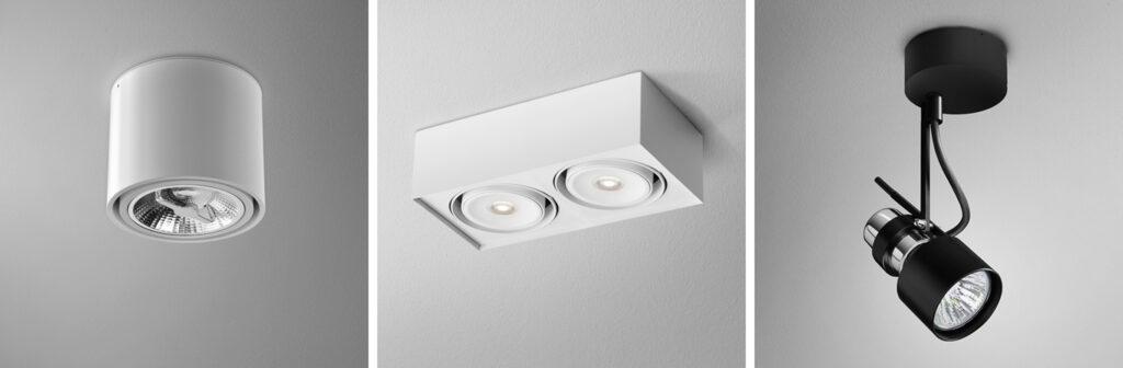3 rodzaje lamp sufitowych oprawy natynkowe
